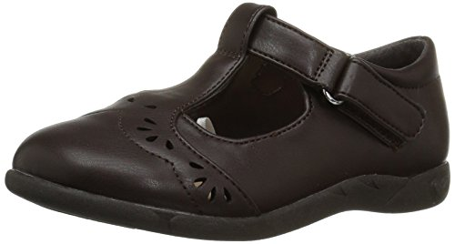 The Children's Place Girls' E LG UNIF ELSA Uniform Dress Shoe, Brown, TDDLR 4 Toddler US Big Kid ()