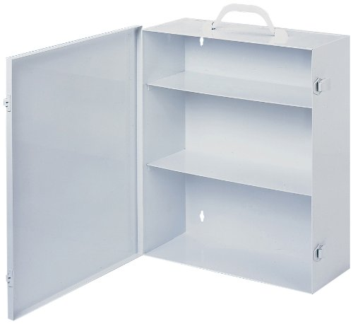 Durham 534-43 White Cold Rolled Steel 9FX Industrial Empty First Aid Cabinet, 15