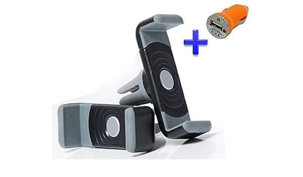 Soporte rejilla ventilación coche para smartphone Bq Aquaris E6 6 ...