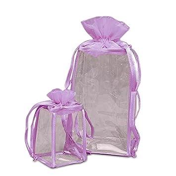 Amazon.com: tela paño cosméticos bolsas de lavanda de vidrio ...