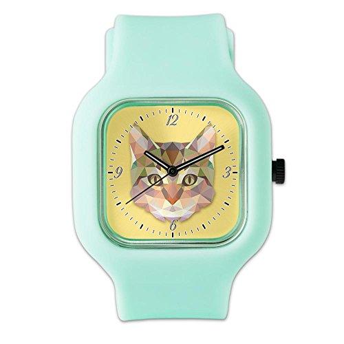 SeaFoam Fashion Sport Watch Triangle Cat Kitten ()