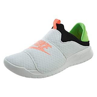 Nike Men's Benassi Slip Shoe (9.5 DM US, Summit White/Crimson Pulse-Black)