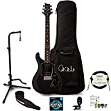 PRS S2 Standard 24 Satin Electric Guitar with Accessories, Charcoal Satin