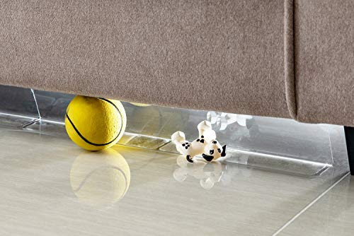 BOWERBIRD Clear Toy Blockers for Furniture - Stop Things from Going Under Couch Sofa Bed and Other Furniture - Suit for Hard Surface Floors Only(3.2 inch high)