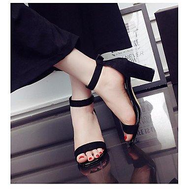 casuales de PU Mujer UE UK3 Confort US5 de Moda zapatos sandalias Black tacones UE36 RUGAI Verano Blanca 5 5 CN35 pvw8Rwn