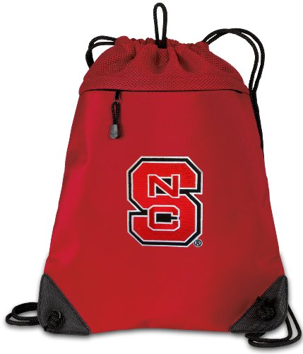 (Broad Bay NC State Drawstring Backpack Bag NC State Wolfpack Cinch Pack - Unique MESH & Microfiber)