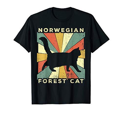 Vintage Norwegian Forest Cat Lover Retro Style Animal T-Shirt