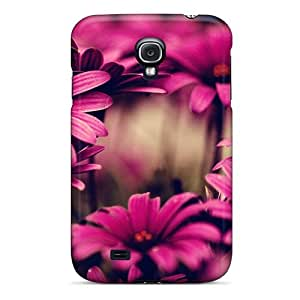 New Pink Flower Wallpaper Tpu Case Cover, Anti-scratch KQjlZuy2138WrHSd Phone Case For Galaxy S4