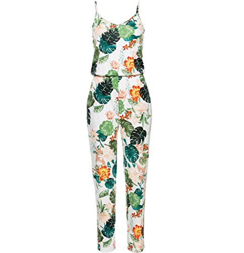 Sexy Sleeveless Jumpsuit Women Long Romper 2019 Summer Floral Trousers Beach Jumpsuit,Color - Formula Angelica
