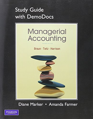 Study Guide with DemoDocs for Managerial Accounting