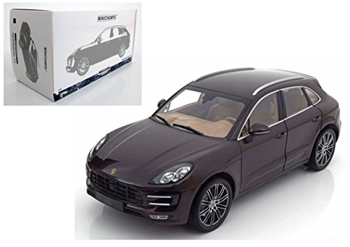NEW 1:18 W/B MINICHAMPS COLLECTION - BROWN 2013 PORSCHE MACAN TURBO Diecast Model Car By MINICHAMPS -
