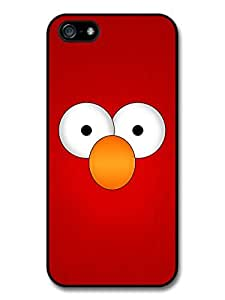 Elmo Muppet Red Face and Orange Nose Minimal Poster TV Show Case For Ipod Touch 5 Cover