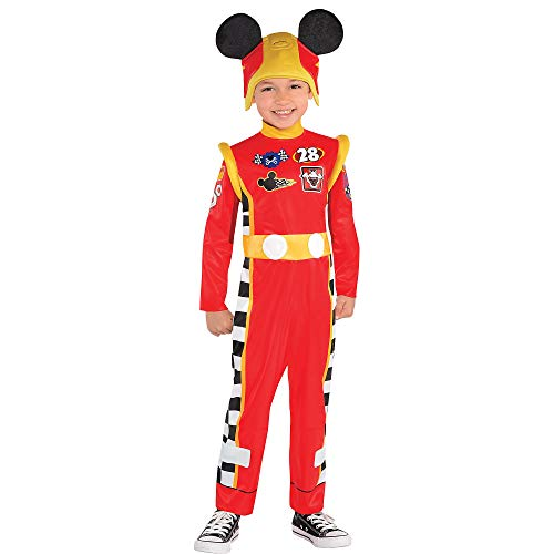 Suit Yourself Mickey and the Roadster Racers Mickey Mouse Costume for Toddler Boys, Size 3-4T, Includes Jumpsuit and Hat -