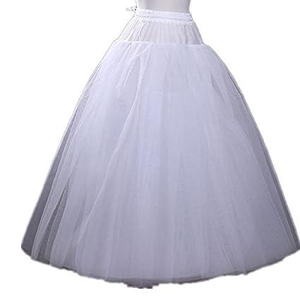 fe0add09d8d0 Dobelove Women's A-Line Hoopless Crinoline Petticoat/Slips/Underskirt 24-35  in at Amazon Women's Clothing store: