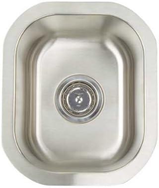 Artisan AR 1214 D7-D Premium Collection 16-Gauge 12-Inch Undermount Single Basin Stainless Steel Bar Sink