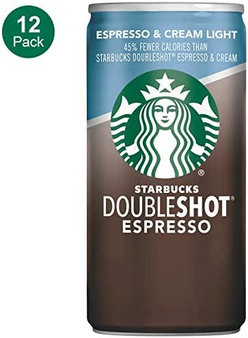 Starbucks Doubleshot, Espresso + Cream Light, 6.5 Ounce, 12 Pack