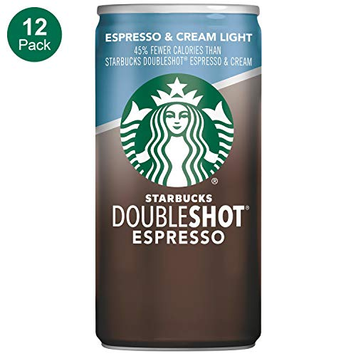 (Starbucks Doubleshot, Espresso + Cream Light, 6.5 Ounce, 12 Pack)