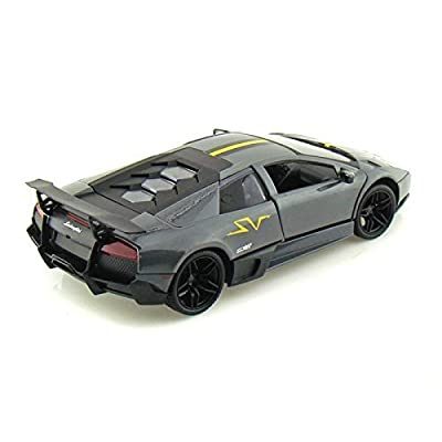 Motormax 73350 Lamborghini Murcielago LP 670 4 SV Grey Diecast Model Car 1/24: Toys & Games