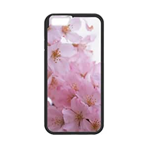 IPhone 6 Cases Pink Flower Bunch Macro Ilike, IPhone 6 Cases Pink Flower, [Black]