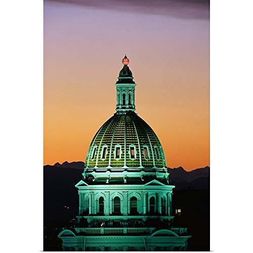GREATBIGCANVAS Poster Print Entitled Colorado State Capitol Building Denver CO by 12