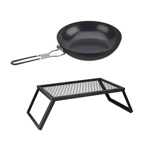 Ozark Trail Outdoor Equipment Heavy-Duty Camp Grill bundle with Ozark Trail 9.5
