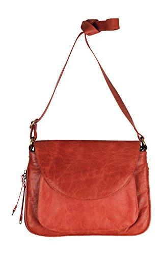 Latico Leathers Tiffin Shoulder Bag, Vintage Red, One Size, 100% Leather, Designer Handbag, Made In India