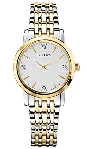 Diamond Silver Tone Watch - Bulova Women's 98P115 Diamond Accented Silver-Tone Bracelet Watch