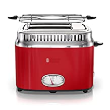 Russell Hobbs TR9150RDRC Retro Style Toaster, Red, 2 Slice
