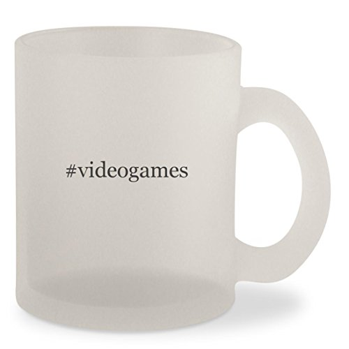 #videogames - Hashtag Frosted 10oz Glass Coffee Cup Mug
