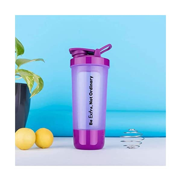 Home Amaz Protein Shaker Bottle for Protein Mix with Storage Compartment & Stainless Steel Blender Ball for Pre/Post… 2021 July ❤️ NO LEAKS, NO DRIPS 100% GUARANTEE : Ultra Tight Screw On Lid, Anti-leak Tested And Proven, Lockable Flip Top, Stays Open If Needed, Easy To Read Measuring ❤️ PREMIUM SPORTS AND GYM PROTEIN SHAKER BOTTLE: Protein Shaker Sports And Gym Water Shaker Bottle Is Exclusively For Work Out Regimens That Include Supplements; Before And/or After A Work Out. ❤️ BETTER BODY ABSORPTION: The Bold Shaker Mixer Works Like A Blender Blade, Shake To Create A Fresh Blend And More Consistent Blend, Meaning Faster And Better Body Absorption