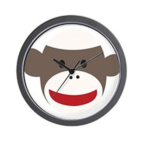 "CafePress Sock Monkey Face Unique Decorative 10"" Wall Clock"