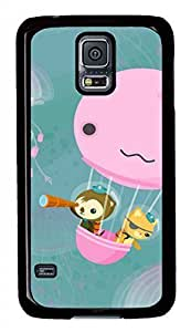 Cute Monkey And Jellyfish Black Hard Case Cover Skin For Samsung Galaxy S5 I9600