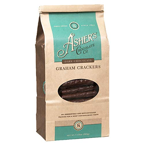 - Asher's Chocolate Company, Chocolate Covered Graham Crackers, Made From the Finest Kosher Chocolate, Small Batches, Family Owned Since 1892 (7.15 ounce, Dark Chocolate)