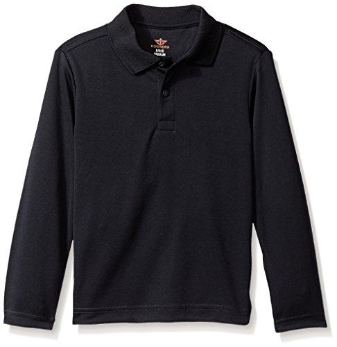 Dockers Big Boys' Uniform Long Sleeve Performance Polo, Navy, X-Large/18/20 (Shirt Uniform Polyester)