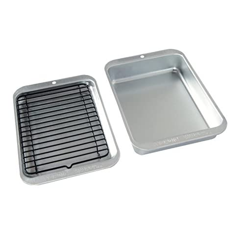 Nordic Ware 43290 3 Piece Naturals Compact Grill and Bake Set, Silver