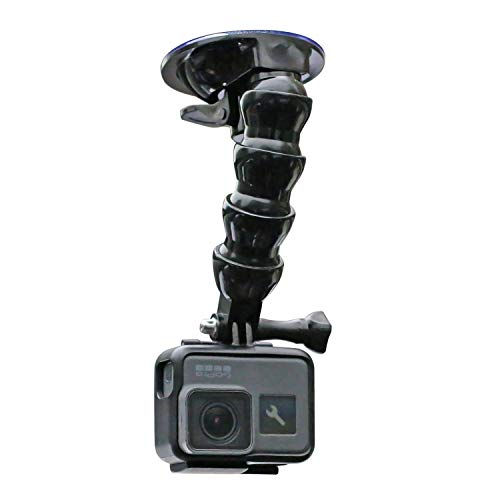 Flexible Gooseneck Extension Suction Cup Car Mount Holder with Phone