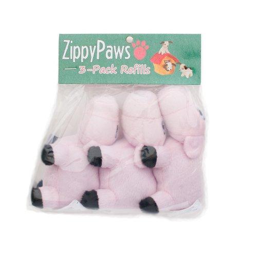 ZippyPaws Burrow Squeaky Pigs Plush Dog Toys, Medium, 3-Pack