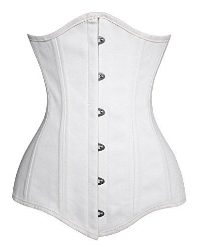 - Charmian Women's 26 Steel Boned Cotton Long Torso Training Underbust Corset White XXXX-Large