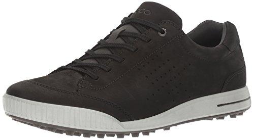 (ECCO Men's Street Retro Hydromax Golf Shoe Black, 44 EU/10-10.5 M US)