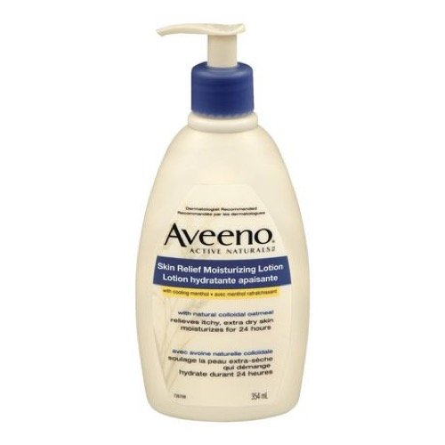 Aveeno Active Naturals Skin Relief Moisturizing Lotion, 12-Ounce (Aveeno Skin Relief Moisturizing Lotion With Cooling Menthol)