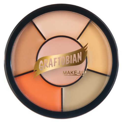Graftobian Cat Wheel Professional Cream Makeup 1oz/28g 5 Color Character Makeup (Easy Halloween Cat Makeup)