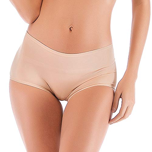 DODOING Womens Seamless Padded Panties Butt and Hip Enhancer Boy Shorts with Removable Pads