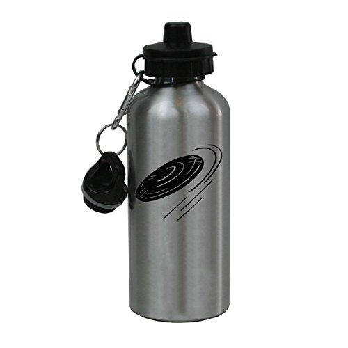 Personalized Custom Frisbee Aluminum Silver Finish 20 Ounce Water Bottle Customizable]()