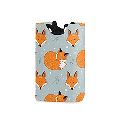 BEETTY Collapsible Laundry Basket Handle Cute Fox Portable Foldable Laundry Hamper Organizer Cloth Hamper for Family: Home & Kitchen