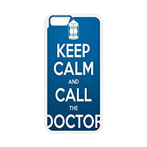 Keep Calm Call Doctor iPhone 6 Plus 5.5 Inch Cell Phone Case White Gakgf