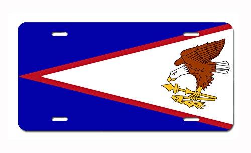 Carpe Diem Designs Samoa/American Samoan Flag License Plate, Made in The U.S.A.S
