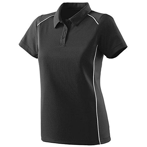 Augusta Sportswear WOMEN'S WINNING STREAK SPORT SHIRT L Black/White (Sports Winning)