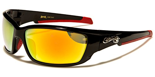 Black Gafas para sol Red Orange Lens SUNGLASSES hombre de SDK PxwT5pCqT
