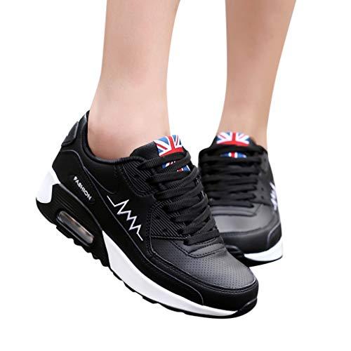 Lacci Rosse Fitness Nere Traspiranti Verdi Da Bianche Stile Ginnastica Con Running Casual E Donna Nero Sneaker Sports Scarpe Sunnywill qwvTfHX