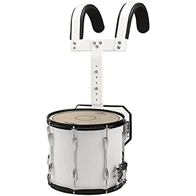 Sound Percussion Labs Marching Snare Drum with Carrier 14 x 12 White from Sound Percussion Labs